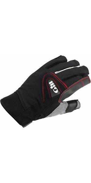 2019 Gill Championship Short Finger Sailing Gloves Black 7242