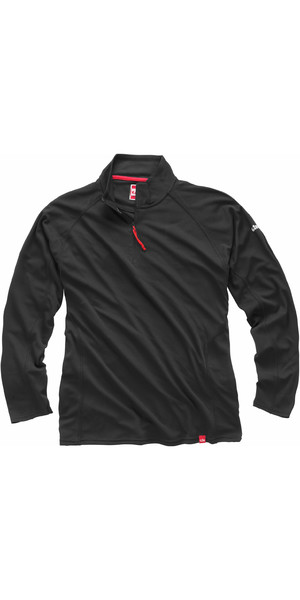 2018 Gill Men's UV Tec Zip Neck Top in Charcoal UV003