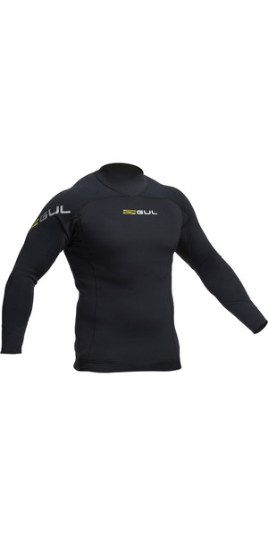 2018 Gul Code Zero 3mm Long Sleeve Thermo Top BLACK AC0067-B2