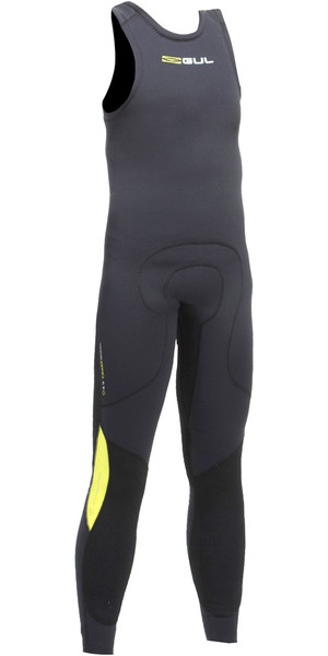 2018 Gul Junior Code Zero 3mm Long John Wetsuit BLACK / BLACK CZ4214-B2