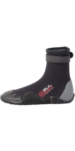 2019 Gul Power 5mm Round Toe wetsuit Boot Black / Grey BO1263 A8