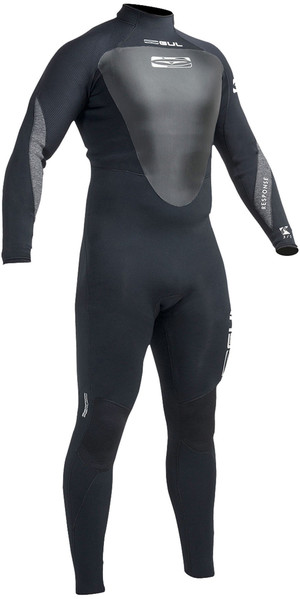Gul Response 3/2mm GBS Back Zip Wetsuit BLACK RE1231-A9