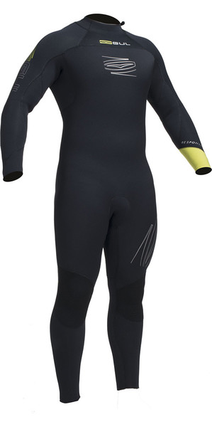 2018 Gul Response FX 5/4mm BS Back Zip Wetsuit Black / Lime RE1255-B1