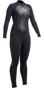 2020 Gul Response Womens 5/3mm GBS Back Zip Wetsuit Black RE1229-B1
