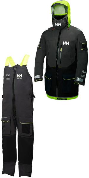 2018 Helly Hansen Aegir Ocean Jacket 30335 & Trouser 36269 Combi Set Ebony