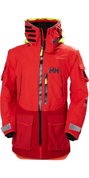 2019 Helly Hansen Aegir Ocean Jacket Alert Red 30335