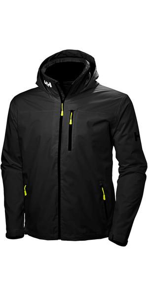 2019 Helly Hansen Hooded Crew Mid Layer Jacket Black 33874