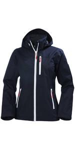 2019 Helly Hansen Womens Crew Hooded Jacket Navy 33899