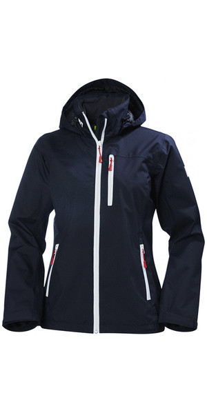 2018 Helly Hansen Ladies Crew Hooded Jacket Navy 33899