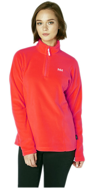 2018 Helly Hansen Womens Daybreaker 1/2 Zip Fleece Neon Coral 50845