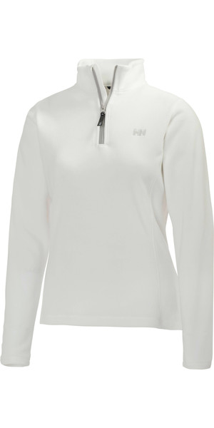 2018 Helly Hansen Ladies Daybreaker 1/2 Zip Fleece WHITE / Silver 50845