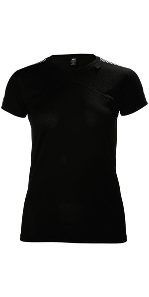 2018 Helly Hansen Womens HH Lifa Base Layer T-Shirt Black 48330