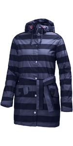 Helly Hansen Womens Lyness Insulated Coat Evening Blue Stripe 62462