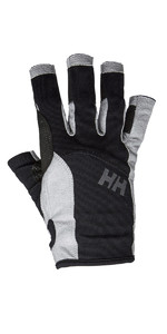 2021 Helly Hansen Short Finger Sailing Glove Black 67772