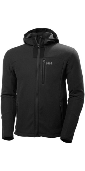 2018 Helly Hansen Vanir Hooded Fleece Jacket Black 51788