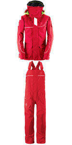 Henri Lloyd Elite Offshore 2.0 Jacket Y00376 & Hi Fit Trousers Y10174 COMBI SET NEW RED
