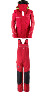 Henri Lloyd Womens Elite Offshore 2.0 Jacket Y00377 & Hi Fit Trousers Y10175 COMBI SET NEW RED