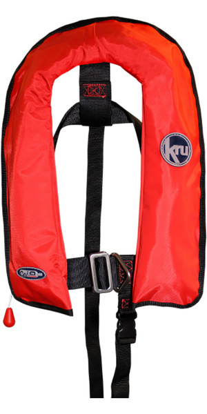 2018 Kru Junior XF Automatic Life Jacket with Harness Red LIF7569