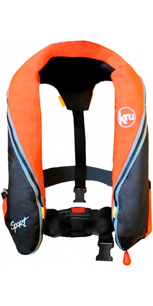 Kru Sport 185N Manual Lifejacket - Orange / Black LIF7225