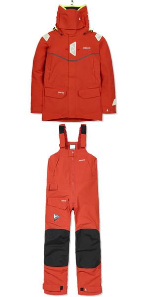 MUSTO MPX GORETEX Offshore Jacket SM1513 & Trouser SM1505 Combi Set Fire Orange