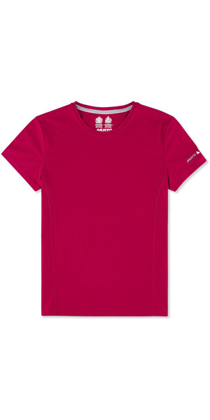 Musto Womens Evolution Sunblock Short Sleeve T-Shirt CERISE EWTS008