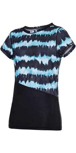 Mystic Ladies Dazzled Short Sleeve Quick Dry Top MINT 170300