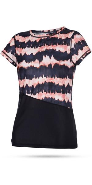 Mystic Ladies Dazzled Short Sleeve Quick Dry Top PINK 170300