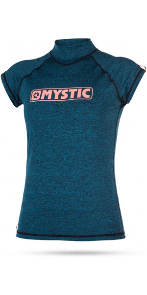 2018 Mystic Womens Star Short Sleeve Rash Vest TEAL 170299