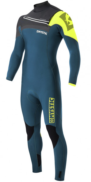 Mystic Majestic 3/2mm GBS Chest Zip Wetsuit - LIME 170020