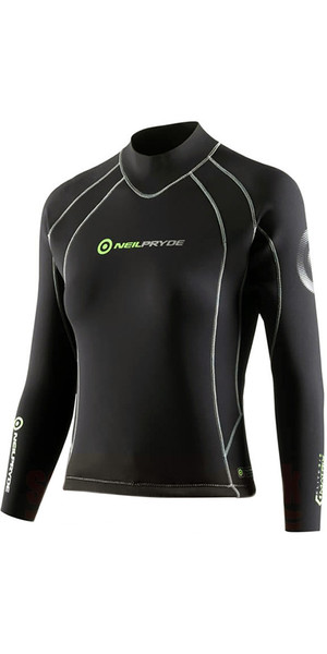 Neil Pryde Ladies Elite Firewire 3mm Long Sleeve Top Black SAB603