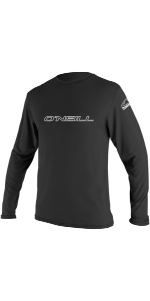 2018 O'Neill Basic Skins Long Sleeve Rash Tee BLACK 4339