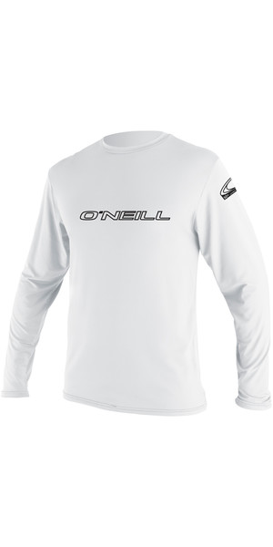 2018 O'Neill Basic Skins Long Sleeve Rash Tee WHITE 4339