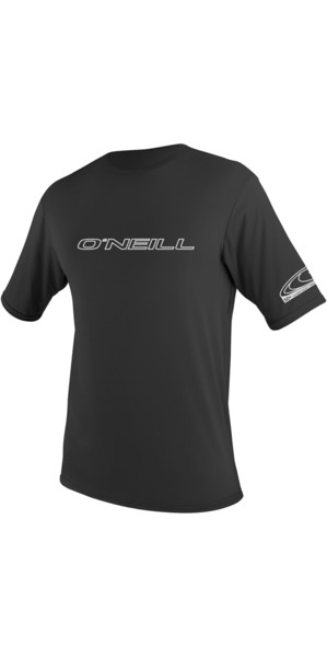 2018 O'Neill Basic Skins Short Sleeve Rash Tee BLACK 3402