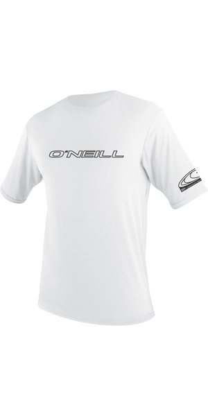 2018 O'Neill Basic Skins Short Sleeve Rash Tee WHITE 3402