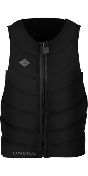 2018 O'Neill Gooru Tech Front Zip Comp Impact Vest BLACK 4916EU