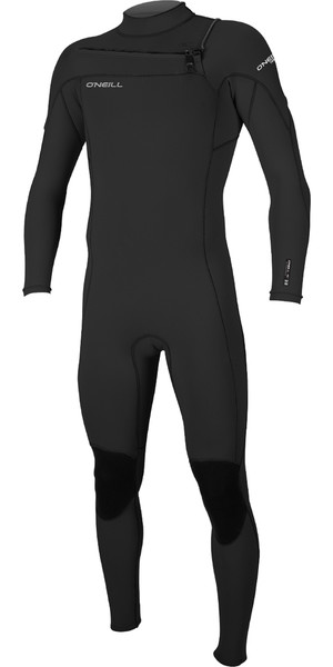 2018 O'Neill Hammer 3/2mm Chest Zip Wetsuit BLACK 4926