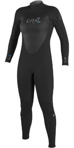O'Neill Womens Epic 3/2mm GBS Back Zip Wetsuit BLACK / BLACK 4213