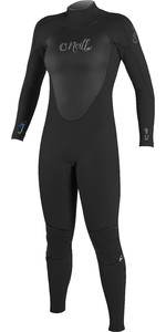 2018 O'Neill Womens Epic 4/3mm Back Zip GBS Wetsuit BLACK 4214