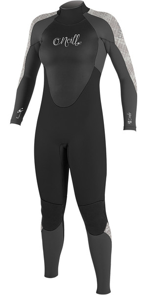 2018 O'Neill Ladies Epic 5/4mm Back Zip GBS Wetsuit BLACK / GRAPH / VIDA 4218