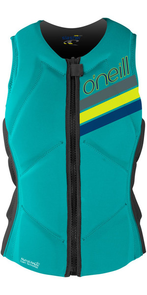 O'Neill Ladies Slasher Comp Impact Vest LIGHT AQUA / GRAPHITE 4938EU