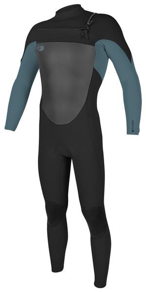 2018 O'Neill O'riginal 3/2mm Chest Zip Wetsuit BLACK / DUSTY BLUE 5011