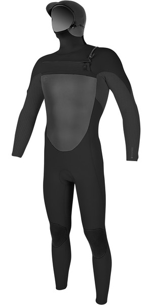 2018 O'Neill O'riginal 6/5/4mm Hooded Chest Zip Wetsuit BLACK / GRAPHITE 4973