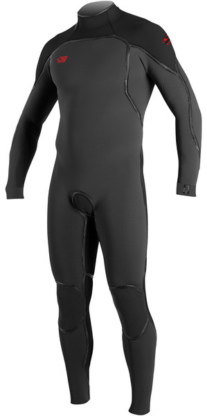 2018 O'Neill Psycho One 3/2mm Back Zip Wetsuit GRAPHITE / BLACK 4964
