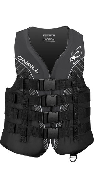 2018 O'Neill Superlite 50N CE Impact Vest BLACK / SMOKE / WHITE 4723