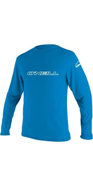 2018 O'Neill Youth Basic Skins Long Sleeve Rash Tee BRITE BLUE 4341