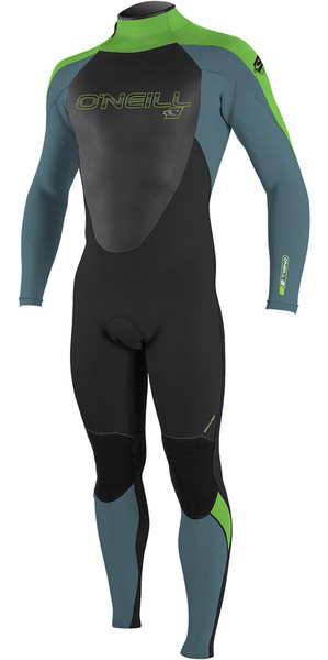 2018 O'Neill Youth Epic 5/4mm Back Zip GBS Wetsuit BLACK / BLUE / DAYGLO 4219