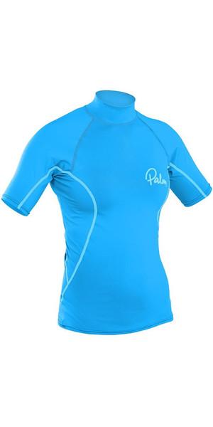 2019 Palm Womens Short Sleeve Rash Vest AQUA 12195