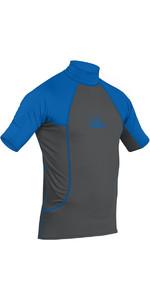 2021 Palm Short Sleeve Rash Vest Jet Grey / Blue 12193