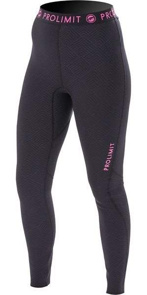 Prolimit womens SUP Athletic Quick Dry Trousers Black / Pink 64760