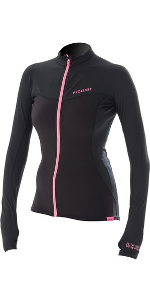 2018 Prolimit Womens Loosefit Quick Dry SUP Top Black / Pink 84700